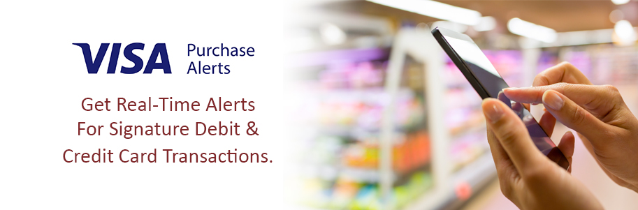 Get real-time alers with Visa® Purchase Alerts